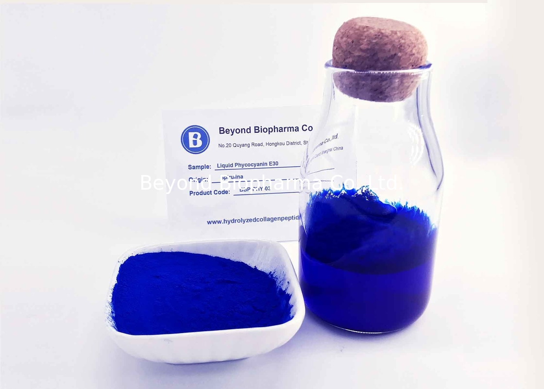 Blue Spirulina Liquid Extract For Food Pigment Liquid Phycocyanin E30