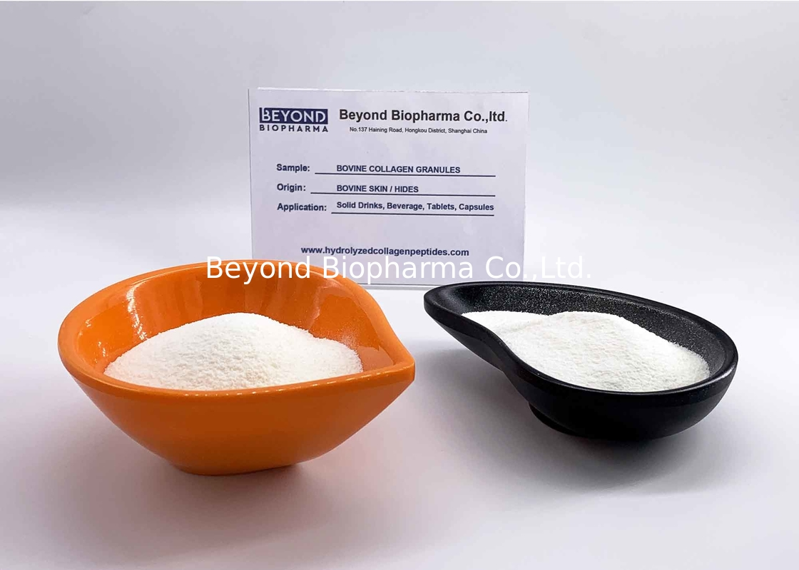 Food Grade Bovine Hide Hydrolyzed Collagen Granule Peptides for Solid Drinks Powder Supplements